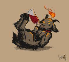 Goth Memes, Small Back Tattoos, Black Phillip, Satanic Art, Occult Art, Pet Fox, Baphomet, Cute Characters, Fantasy Creatures