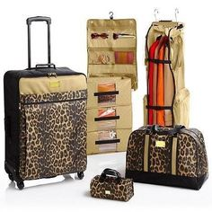 Joy Mangano Paris Trunk Show Faux Suede Clothes It All Luggage ...