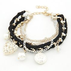 Bracelets For Women Fashion Gold Pearl Crystal Heart Charm Bracelets & Bangles Pulseiras Femininas Pulseras Bijoux Men Jewelry-in Charm Bracelets from Jewelry on Aliexpress.com | Alibaba Group