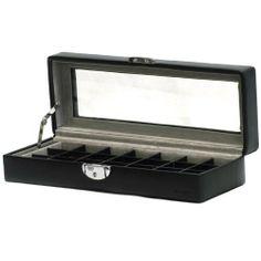 Schwarze Box + Sichtfenster für 21 Ringe oder Manschettenknöpfe von Vertrieb durch schmuckkoffer24, http://www.amazon.de/dp/B001E3FHFA/ref=cm_sw_r_pi_dp_dxMZsb0GQR4GQ