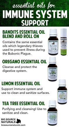 Support your immune system with these essential oils #aromatherapy