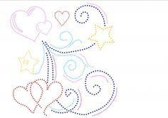 hearts and stars with swirls hartjes en sterren