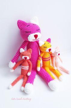 Crochet cat Amineko crochet Cat crochet Kitten, stuffed toy crochet pink Cat, crochet stuffed animal, crochet plush toy вязаный кот Аминеко