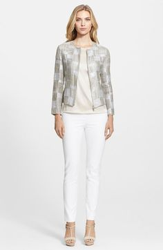 Armani Collezioni Jacket, Blouse & Jeans  available at #Nordstrom