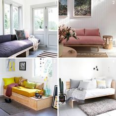 Daybed Room Ideas New A Custom Daybed Story Shop Decor Emily Henderson Ikea Daybed, Daybed Room, Upholstered Daybed, Guest Room Office, Home Office Decor, Home Decor, Light Purple Bedrooms, Homemade Furniture, Diy Furniture