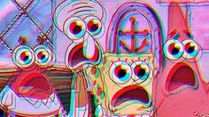 trippy spongebob Millions of unique designs by independent artists. Find your thing. Aesthetic Desktop Wallpaper, Trippy Wallpaper, Retro Wallpaper, Cartoon Wallpaper, Acid Wallpaper, Mac Wallpaper Desktop, Screen Wallpaper, Cute Laptop Wallpaper, Macbook Wallpaper