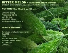 Benefits of Bitter Melon..  Have you tried adding this to your juices?