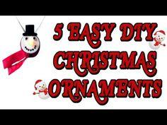 5 EASY DIY CHRISTMAS ORNAMENTS! Fun! Cheap! Easy! DIY Holiday Ornaments Ideas!  #diy #diys #idea #ideas #christmas #xmas #craft #crafts #easy #fun #decor #decoration #decorations #video #videos #youtube #tutorial #tutorials #cheap #ornament #ornaments #snowman
