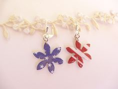 4th of July earrings, American flag earrings, 4th of July jewelry, Stars and stripes earrings, Patriotic earrings, Fourth of July earrings - pinned by pin4etsy.com