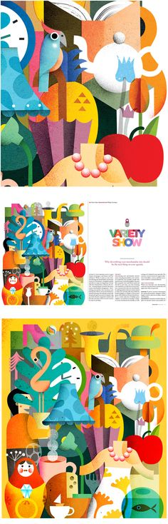 Full page illustration for Retail News Magazine on Behance