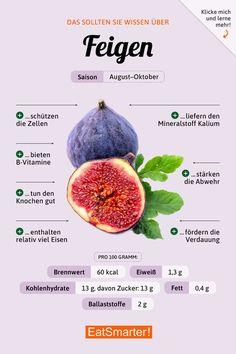 Das solltest du über Feigen wissen | eatsmarter.de #ernährung #infografik #feigen