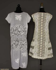 Two Lace Summer Dresses, 1920s, Augusta Auctions, March 21, 2012 NYC, Lot 50