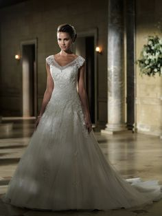 From the David Tutera for Mon Cheri Wedding Dresses 2013 Collection-love, love, love this dress!!