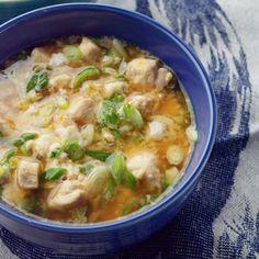 Use regular NOT instant rice -Japanese Chicken-Scallion Rice Bowl