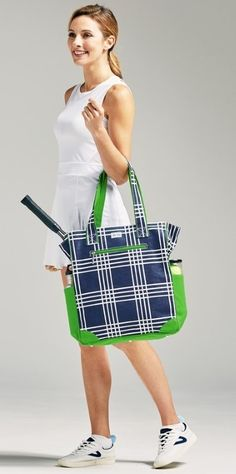 Check out our Parker Plaid Ame & Lulu Ladies Emerson Tennis Tote Bags! Find the best tennis gear and accessories at Lori's Golf Shoppe. Click through now to see this Tote Bags!