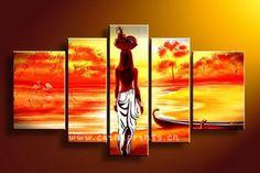 pinturas a oleo africanas - Pesquisa Google                                                                                                                                                     Más