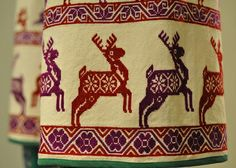 Huichol Red Deer Mexico by Teyacapan on Flickr. Via Flickr: See how they run… close-up of the embroidered deer on a Huichol man's pants that were exhibited at the Museo Textil de Oaxaca, Mexico  Raices