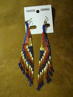 Metallic seed bead earrings. Only $7.99 Click on pic for details.