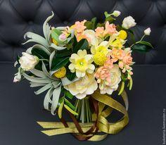 Купить Букет невесты из полимерной глины - букет невесты, букет из глины, букет из полимерной глины