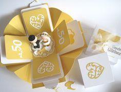 Geschenkverpackung Geldgeschenk Goldene Hochzeit von blattsalat auf DaWanda.com