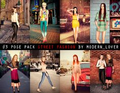 "Modern_Lover's Blog || Custom content for The Sims 3: №3 Pose pack ""Street Fashion""  These sims are so PRETTY!!"