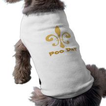 Poo Dat, Fleur de Lis Doggie Shirt