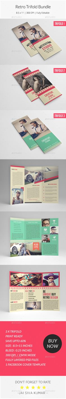 Pin by tonomatograph on Tonomatograph Templates DL flyer - retro brochure template