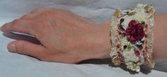 fabric cuff Jewelery, Studio, Floral, Fabric, Fashion, Jewelry, Tejido, Moda, Jewels