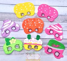 A personal favorite from my Etsy shop https://www.etsy.com/listing/237766755/shopkins-mask-felt-mask-shopkins-party