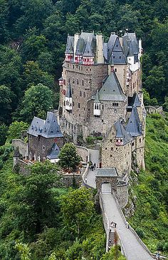 Burg Eltz, Germany Castle started in 1157 and still in the same family.Medieval heaven-inside and out.