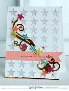 Birthday Star Card by Betsy Veldman for Papertrey Ink (April 2014)