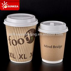 Disposable 12 ounce sip lid paper cup