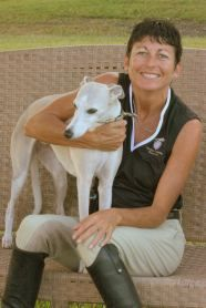 Nan Martin of Experience Essential Oils and her dog. Good info for using EO's with pets on her site