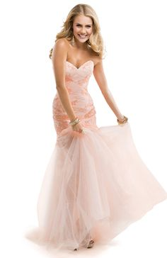 Hourglass Dress with Tulle Skirt & Lace Appliques | by FLIRT