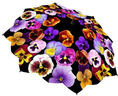 pansy flower umbrella