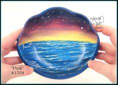 Ocean Evening Bowl Handpainted OOAK Wood by EclecticDawnArts
