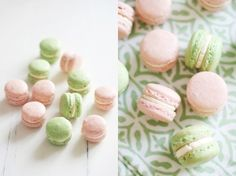 macarons in green and pink by chrissy.shea.3