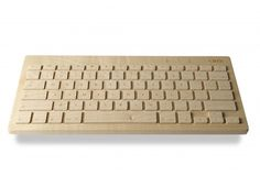 Orée Wooden Keyboard - A hand-crafted wooden keyboard adds a touch of class to any desk. It's got Bluetooth for wireless connectivity and can be customised with a choice of fonts and your own engraved message. For example: 'Hands off, kids. Presents For Dad, Computer Keyboard, Bluetooth, Fonts, Dads, Messages, Touch, Gift Ideas, Canning