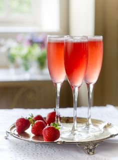 Pour freshly squeezed clementine juice into a chilled glass, add a dash of Campari and top up with prosecco
