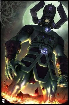 Galactus - not a hero, but a primal force of the cosmos, neither good nor evil. Nuff said...