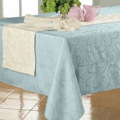 """Chris Madden® Damask Table Linens - jcpenney  $6 clearance  70"""" round"""