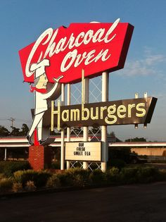 Charcoal Oven Hamburgers Fifties Retro Neon Sign: http://www.flickr.com/photos/hollybaumannphotography/6162922352/