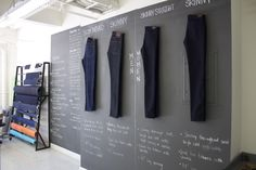 den.m bar - A place where you can create your very own custom jeans.  Pick your fabric, style, and accessories!