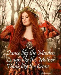 Celtic Wisdom - Dance like the Maiden; Laugh like the Mother; Think like the Crone Mabon, Iron Age, Maiden Mother Crone, Paisley, Gypsy Moon, Fairytale Fashion, Romantic Fashion, Triple Goddess, Divine Goddess