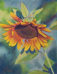 Big Sunflower Painting by Billie Colson - Big Sunflower Fine Art Prints and Posters for Sale