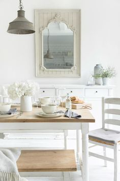 Amara | Fantasy Collection | #AmaraAW16 | Dining Inspiration | There's something about bright white interiors that look so effortless chic, right? Why not browse the Fantasy collection at Amara...