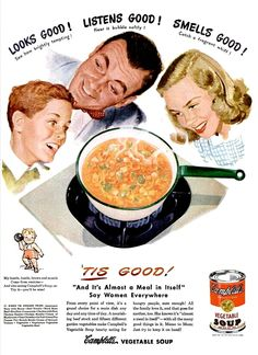 Vinatge Ad: Campbell's soup, 1947