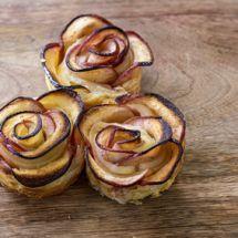 Ma recette du jour : Roses feuilletées pommes sur Recettes.net