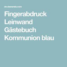 Fingerabdruck Leinwand Gästebuch Kommunion blau