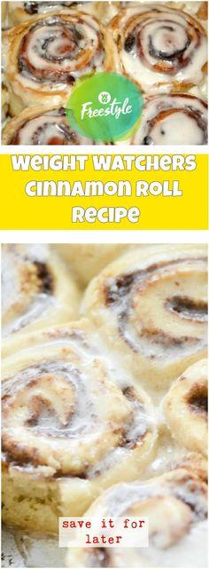 Weight Watchers Cinnamon Roll Recipe | weight watchers recipes
